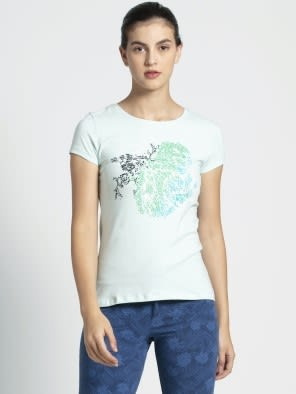 Blue Tint Melange Print51 Graphic T-Shirt