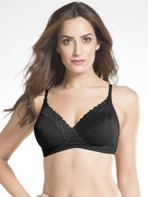 Black Crossover Side Support Bra