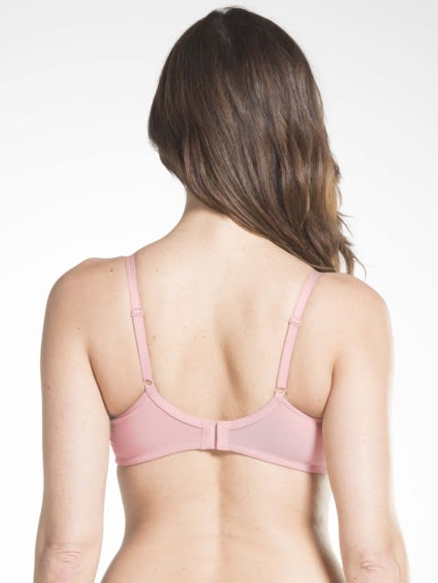 Candy Pink Crossover Side Support Bra