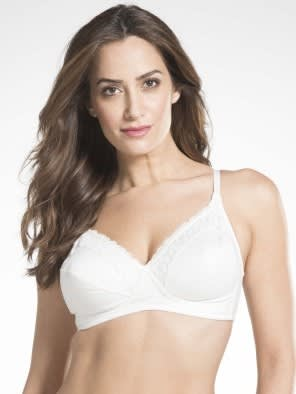 White Crossover Side Support Bra