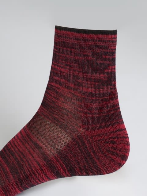 Black & Team Red Men Ankle Socks