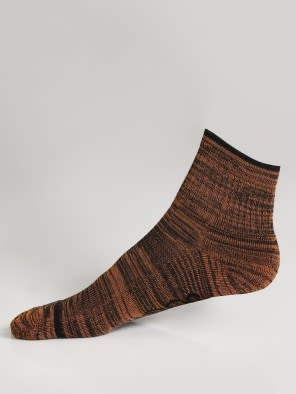 Black & Autumn Glory Men Ankle Socks