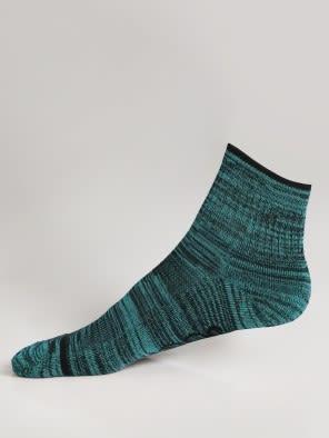 Black & Caribbean Turq Men Ankle Socks