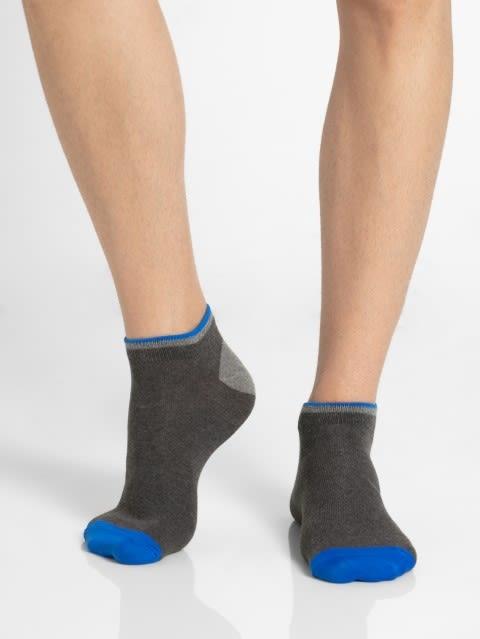 Charcoal Melange & Assorted Neon Colors Men Low Show Socks