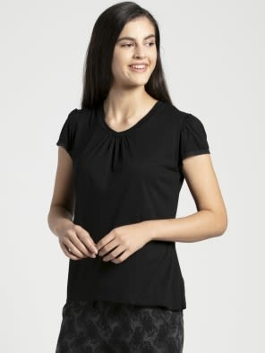 Black V - Neck T-Shirt