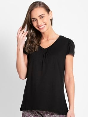 Black V - Neck T-Shirt