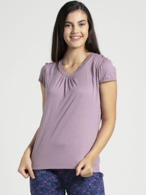 Old Rose V - Neck T-Shirt