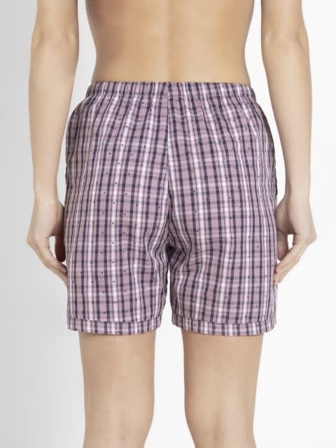 Old Rose Woven Knee Length Shorts