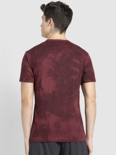 Burgundy Print Sport T-Shirt