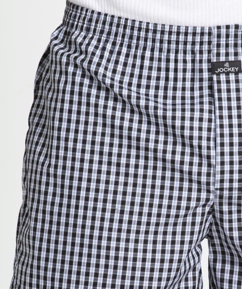 Navy & Black Check Combo0203 Boxer Short Pack of 2
