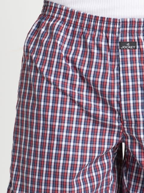 Red & Blue Check Combo9293 Boxer Short Pack of 2