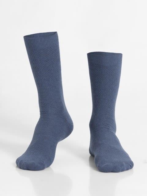 Denim Melange Des1 Men Calf Length Socks