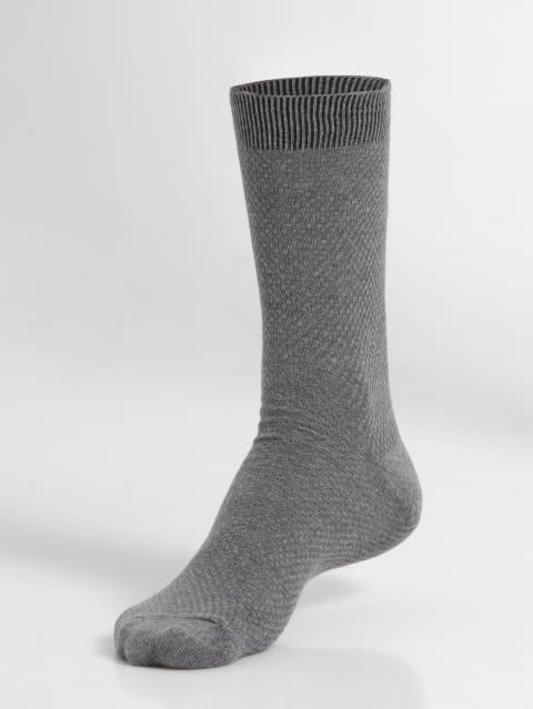 Mid Grey Des1 Calf Length Socks