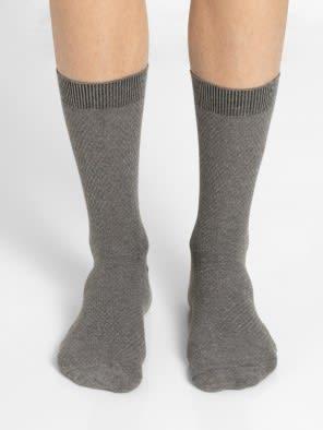 Mid Grey Des1 Men Calf Length Socks