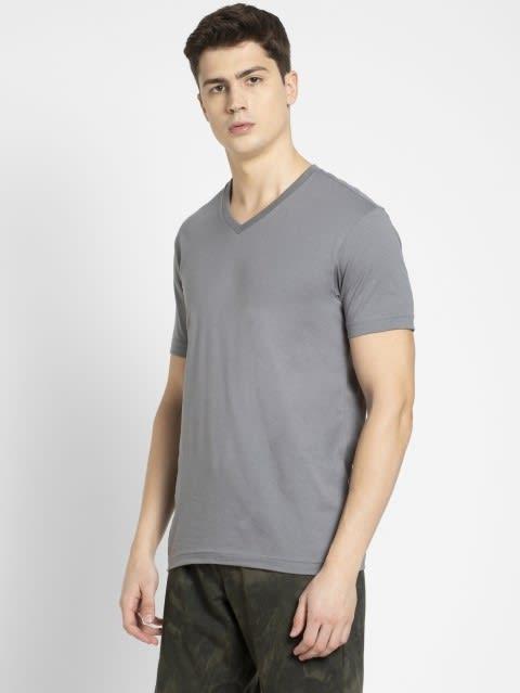 Performance Grey V-Neck T-shirt