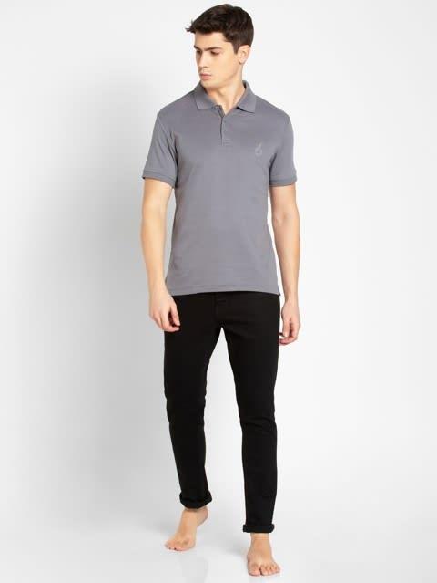 Performance Grey Sport Polo T-Shirt