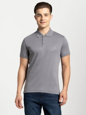 Performance Grey Sport Polo T-Shirt