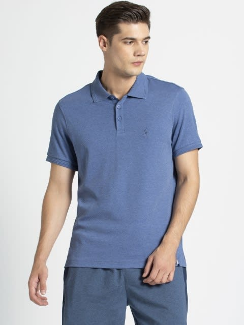 Lt Denim Melange Polo T-Shirt