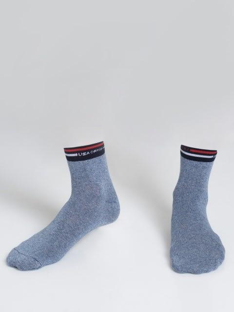 Denim Blue Grindle Ankle Socks