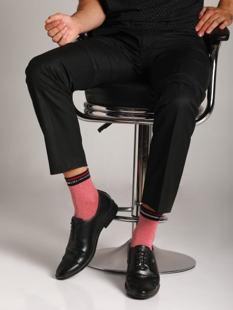 Red Grindle Ankle Socks