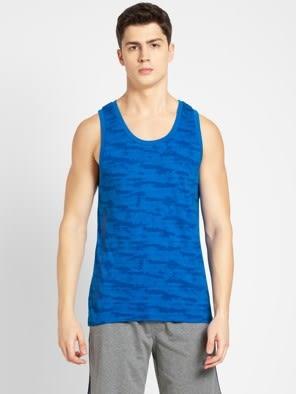 Neon Blue Print Tank Top