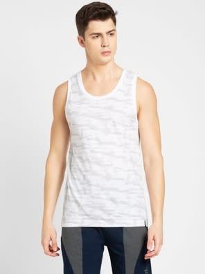 White Prints Tank Top