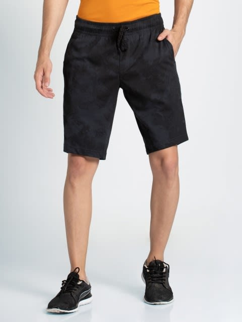 Graphite Print Straight fit shorts