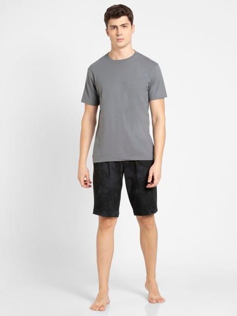 Graphite Print Straight fit shorts