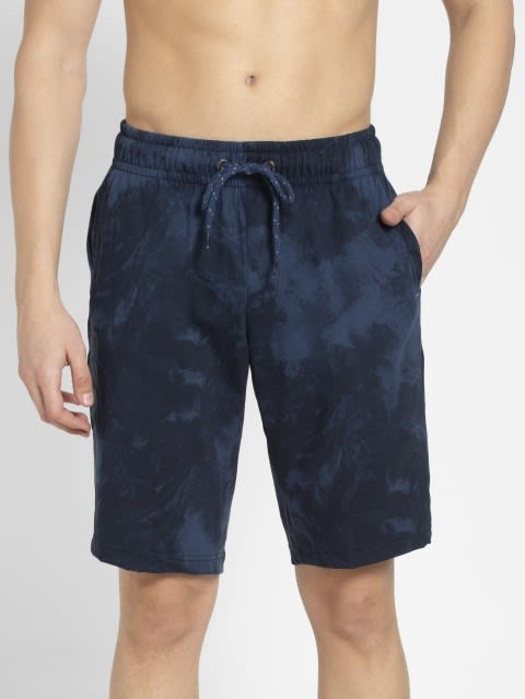 Ingna Blue Print Straight fit shorts