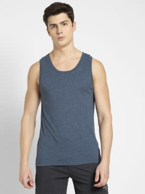Navy Grindle Tank Top