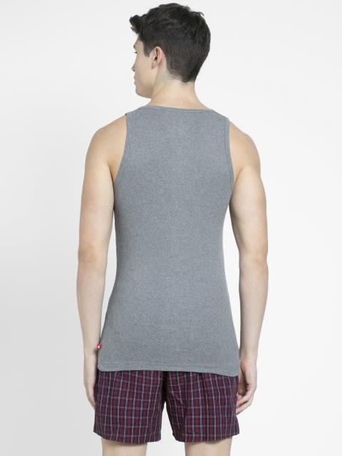 E-Mid Grey Melange Vest