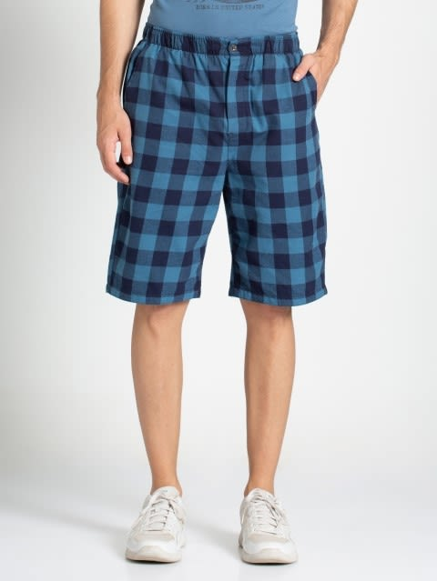 Blue Checks Woven Bermuda