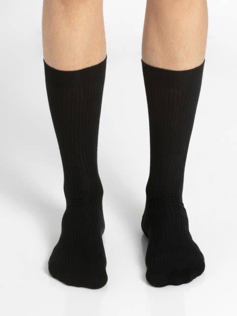 Black S1 Men Calf Length Socks