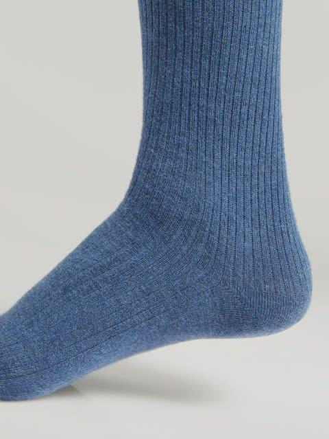Blue Melange S1 Men Calf Length Socks