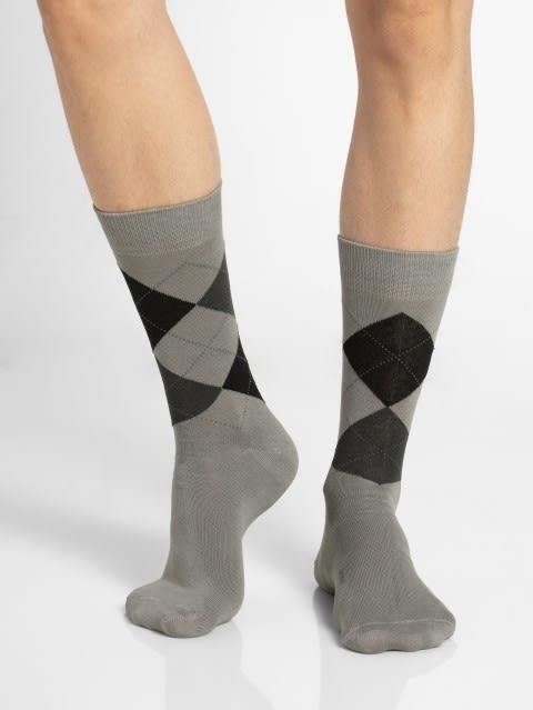 Grey Melange S1 Men Calf Length Socks
