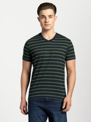 Cedar Green & Navy T-Shirt