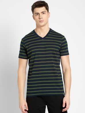 Cedar Green & Navy T-Shirt