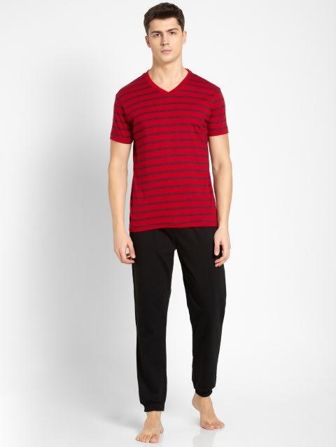 Navy & Shanghai Red T-Shirt