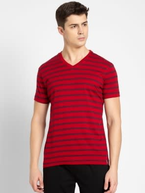 Navy & Shanghai Red T-Shirt