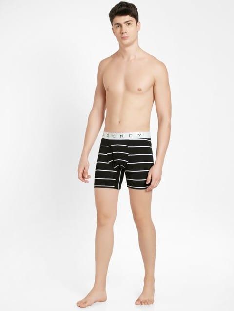 Black with White Des02 Boxer Brief