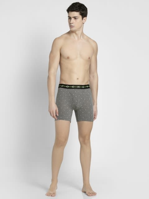 Mid Grey with Black Des08 Boxer Brief