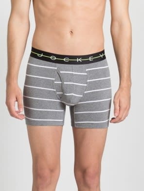 Mid Grey with Black Des09 Boxer Brief
