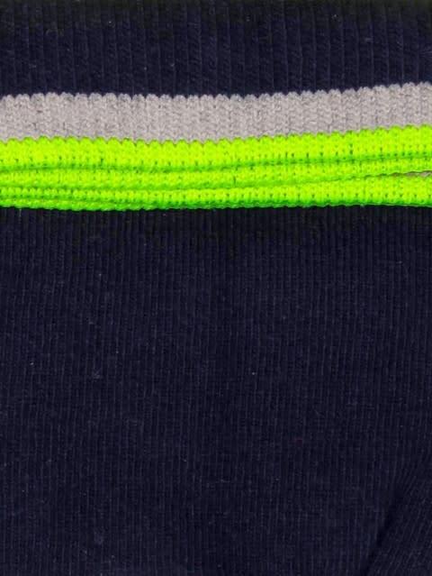 Navy & Assorted Neon Colors Men Ankle Socks