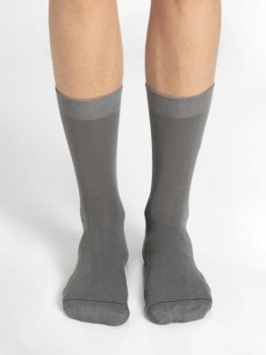Mid Grey Men Calf Length Socks
