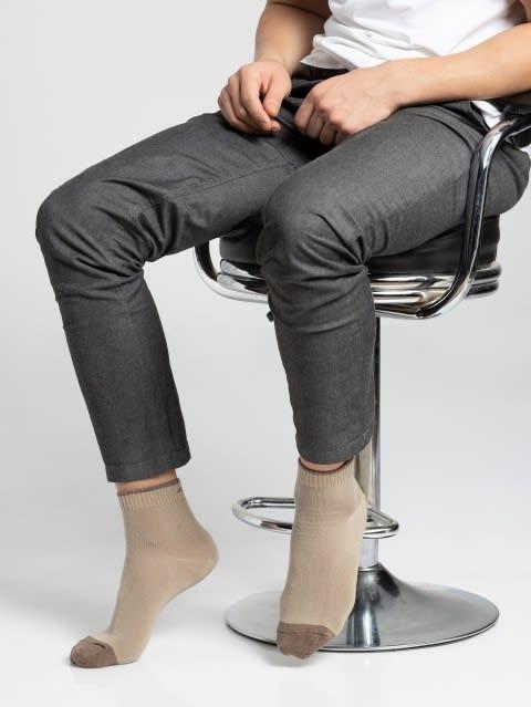 Khaki Men Ankle Socks