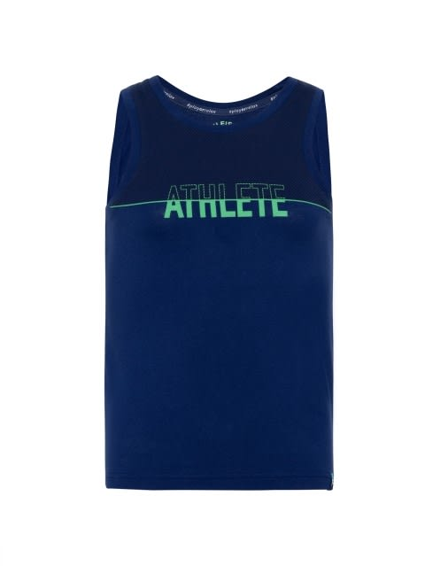 Blue Depth Printed Muscle Tee