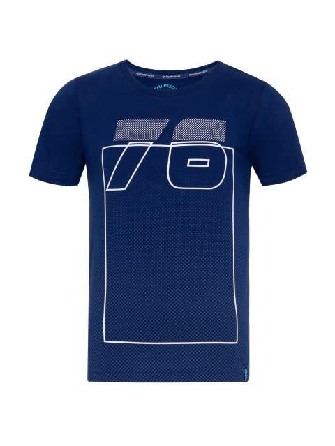 Blue Depth Printed T-Shirt