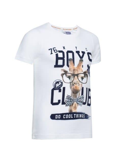 White Printed T-Shirt