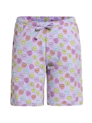 Lavender Printed Shorts