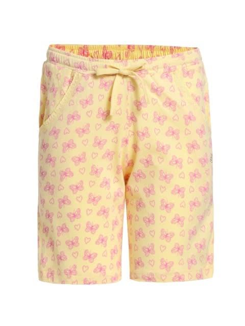 Pale Banana Printed Shorts